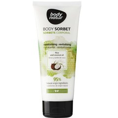 Сорбет для тіла з рисом і кокосом Body Sorbet Rice and Coconut oil, 200 мл, Body Natur