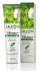 Зубна паста Зміцнююча з маслом кокосу Simply Coconut, 119г, Jason Natural Cosmetics